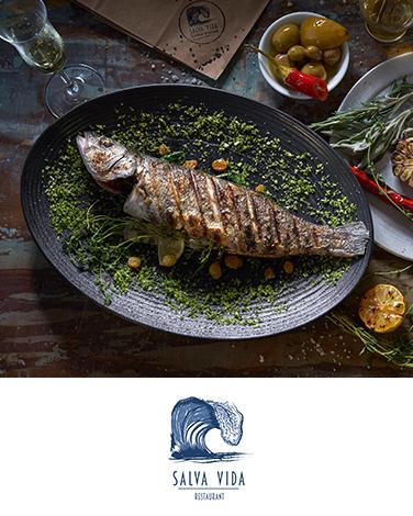 סלבה וידה, מסעדת דגים ופירות ים בתל אביב